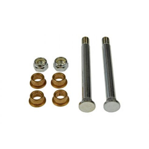 Door Hinge Pin & Bushing Kit (2 Pins, 4 Bushings, 2 Lock Nuts)