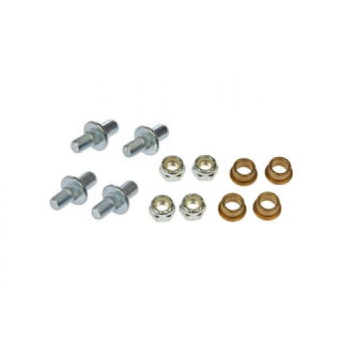 Door Hinge Pin & Bushing Kit (4 Pins, 4 Bushings, 4 Lock Nuts)