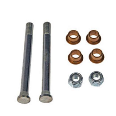Door Hinge Pin & Bushing Kit (2 Pins, 4 Bushings, & 2 Lock Nuts)