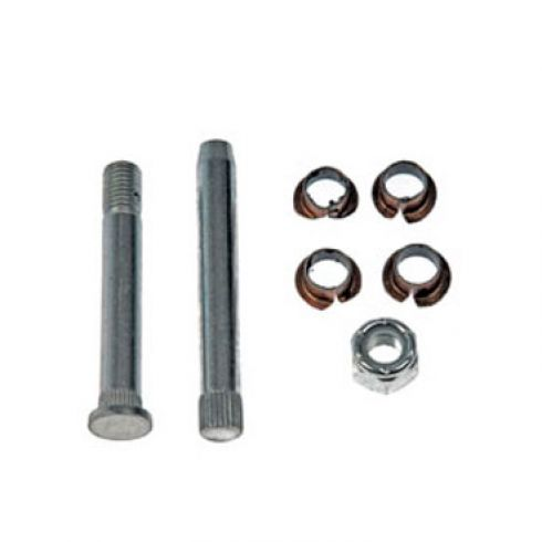Door Hinge Pin & Bushing Kit (2 Pins, 4 Bushings, & 1 Lock Nut)