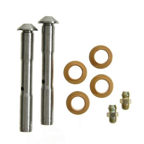 Door Hinge Pin & Bushing Kit (2 Greaseable Pins, 4 Bushings, 2 Snap Ring)