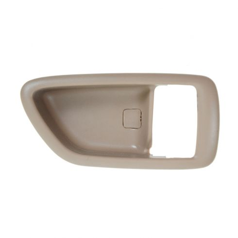 04-06 Toyota Tundra (Double Cab); 01-07 Sequoia; 00-04 Avalon Oak Inside Door  Handle Bezel  RF = RR