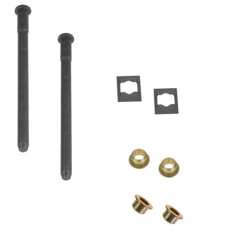 88-05 Caddy, Chevy, GMC Full Size PU, SUV Hinge Pin & Bush Kit (2 Pin, 2 Ret Clip, & 4 Bushings)(GM)