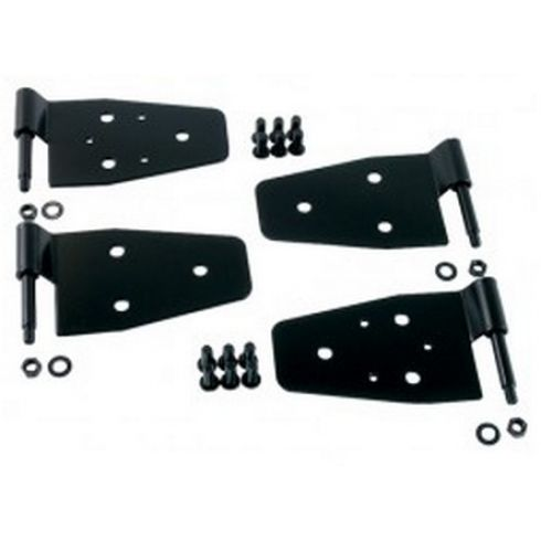 Door Hinge Kit, Black, 87-06 Jeep Wrangler (TJ)