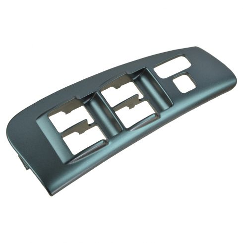 03-08 Corolla, Matrix, Pontiac Vibe Front Door Silver Window Switch Trim Bezel Plate RF (Toyota)