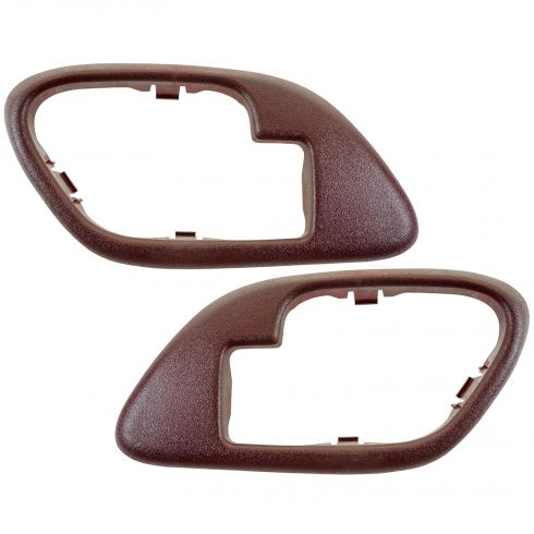 1995-02 Chevy GMC C/K PU SUV Inside Door Handle Bezel RED PAIR