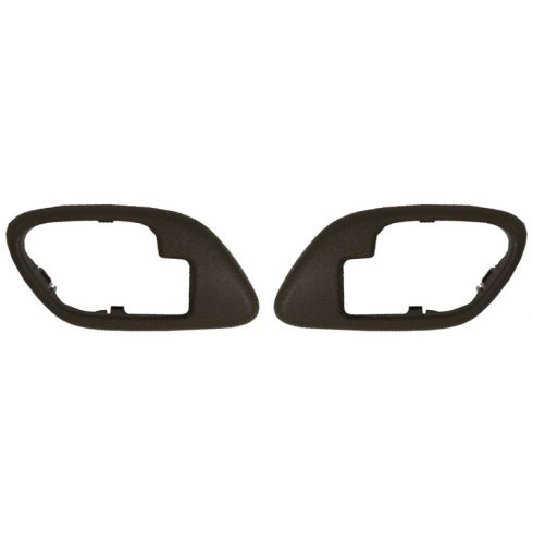 1995-02 Chevy GMC C/K PU SUV Inside Door Handle Bezel BROWN PAIR