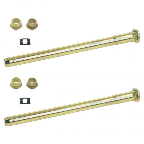 88-05 Caddy, Chevy, GMC Full Size PU, SUV Door Hng Pin & Bush Kit (2 Pin, 2 Ret Clip, & 4 Bushings)