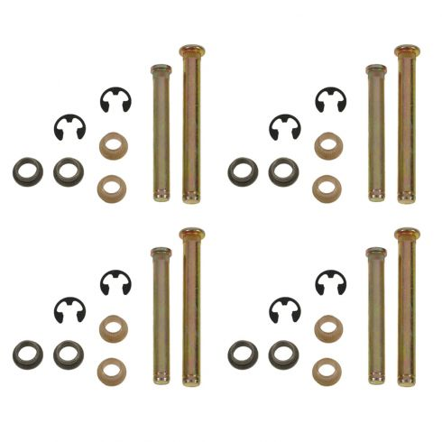 Door Hinge Pin & Bushing Kit (4 Pins, 4 E-Clips, & 8 Bushings)