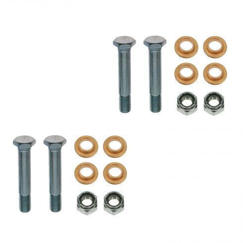 04-11 F150; 06-08 Mark LT Upr & Lwr Frnt Door Hinge Repair Kit (Pins, Brass Bushing, Lock Nuts) PAIR