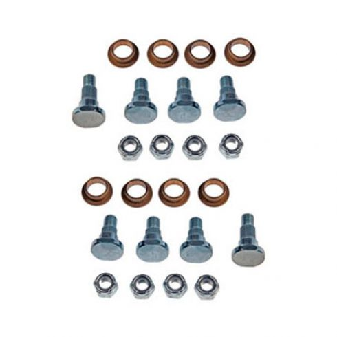 Door Hinge Pin & Bushing Kit (8 Pins, 8 Bushings, & 8 Lock Nuts)