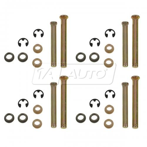 97-98 Dakota; 97-01 1500; 97-02 2500 3500 Door Hng Pin & Bush Kit (8 Pins, 8 E-Clips, & 16 Bushings)