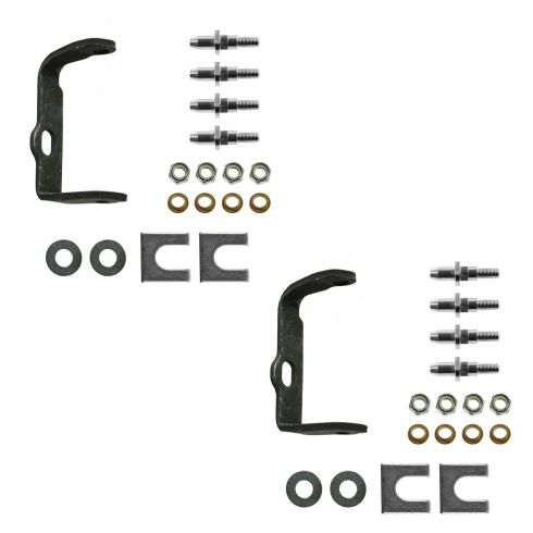 02-09 Bravada, Envoy, Rainier, SSR, Trailblazer Rear Door Hinge Pin Repair Kit w/Bracket LH PAIR
