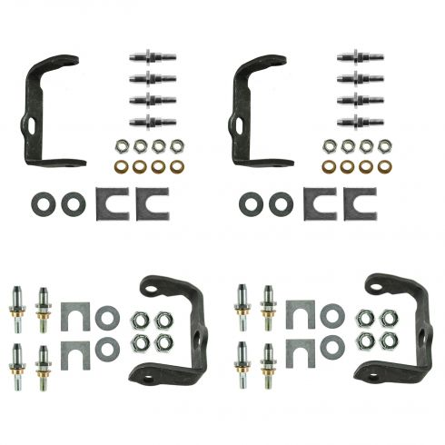 02-09 Bravada, Envoy, Rainier, SSR, Trailblazer Rear Door Hinge Pin Repair Kit w/Bracket (Set of 4)