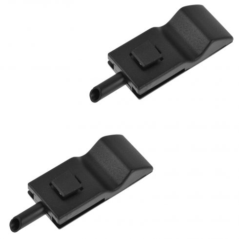 07-13 Silverado, Sierra New Body, FS SUV Front or Rear Ebony Door Lock Knob Pair (GM)