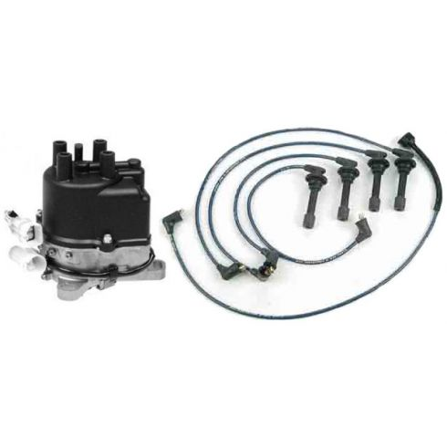 1988-89 Acura Integra Distributor and Wire Set 1.6L