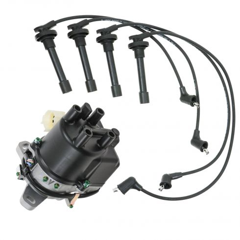 1988-1991 Honda Civic CRX Distributor and Wire Set with 1.5L and 1.6L