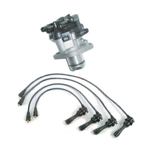 1993-95 Galant 2.4L Distributor and Wire Set
