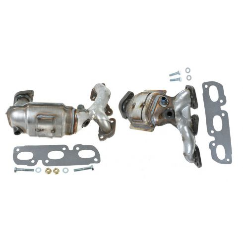 2000-01 Mazda MPV 2.5L (w/CALF Emissions) Exh Manifold w/Catalytic Convertor & Gasket Kit PAIR
