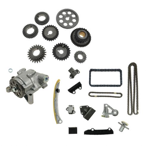 01-04 Tracker 2.5L; 99-05 Grand Vitara 2.5L; 02-06 XL-7 2.7L Timing Chain & Sprocket Set w/ Oil Pump