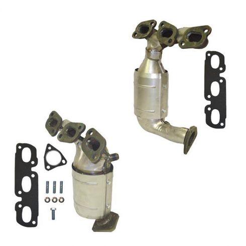 02-06 Mazda MPV Van Exhaust Manifold w/Cat & Gasket Set PAIR