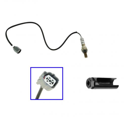 97-01 Prelude Upstream; 00-03 S2000 Downstream 4 Wire O2 Oxygen Sensor (25.5 Inc