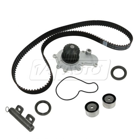 Timing Belt, Timing Belt Tensioner Adjuster, Water Pump, & Seal Kit (9 Components)