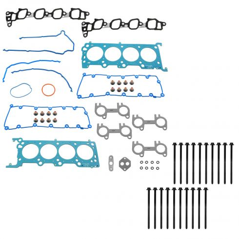 00-03 E150-E350; 00-05 Exc; 00-04 Exp; 00-04 F250SD, F350, F150 w/5.8L Steel Head Gasket & Bolt Set