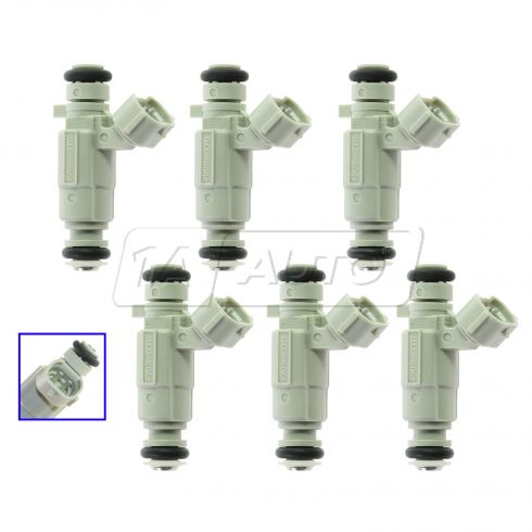 99-06 Hyundai, Kia Multifit w/ 3.0L, 3.5L Fuel Injector (Set of 6)