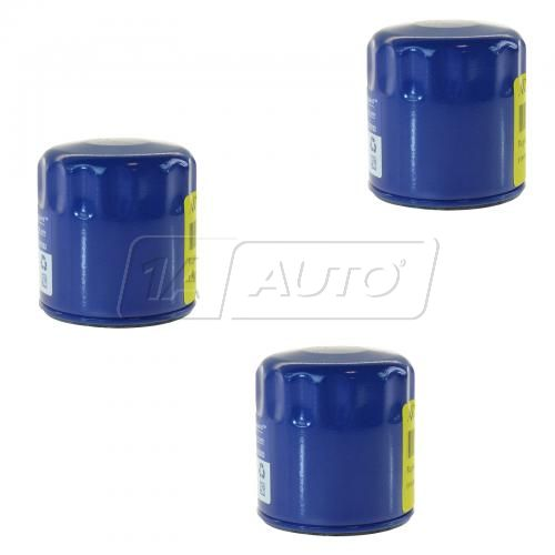 83-86 AMC; 75-12 GM; 03-08 Isuzu; 81-86 Jeep; 05-06 9-7x Duraguard Engine Oil Filter Set of 3 (AC)
