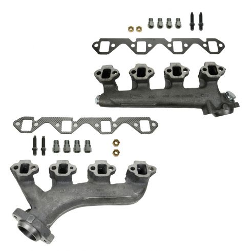 88-96 Ford 351 5.8L Exh Manifold & Gasket Kit Pair (Dorman)