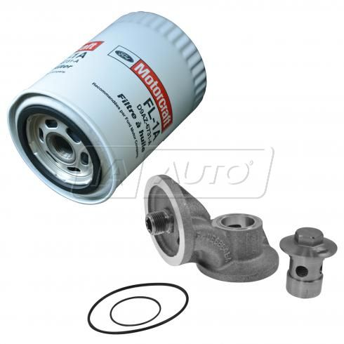 50-01 Ford,Lincoln,Mercury Multifit Aluminum 90 Deg Oil Fltr Relocation Adap & Fltr Kit(Ford Racing)