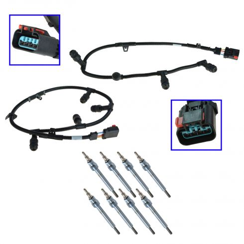 05-07 (to 12/18/06) F250SD, F350SD; 05 Excursion w/6.0L Diesel Glow Plug & Wiring Harness Kit (Ford)