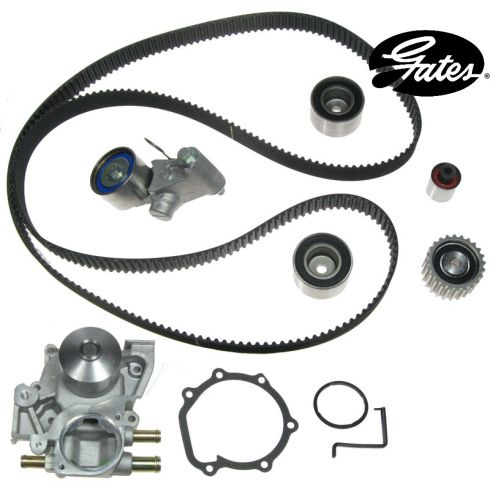 Subaru H4 2.0L 04 Timiong Belt Water Pump Kit 7 Components