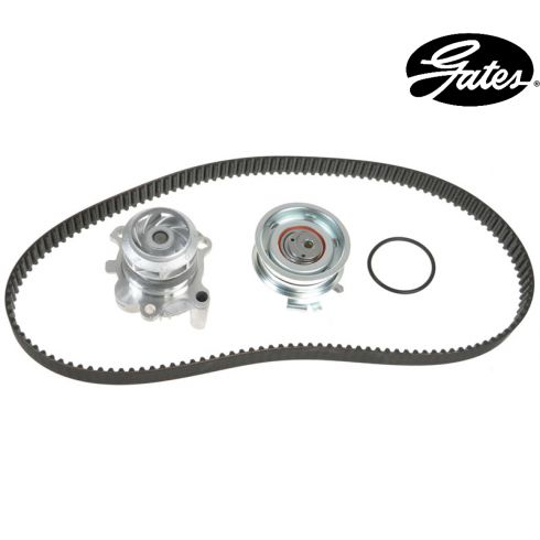 98-08 VW L4 2.0L Timing Belt Kit with Water Pump (Metal Impeller) (Gates)
