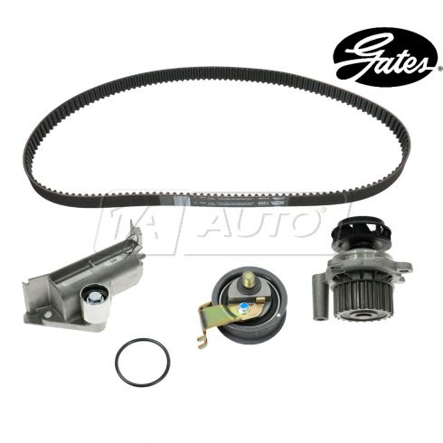99-01 VW Beetle w/1.8L Timing Belt & Component Kit w/Water Pump & Plastic Impeller (4 Piece) (Gates)