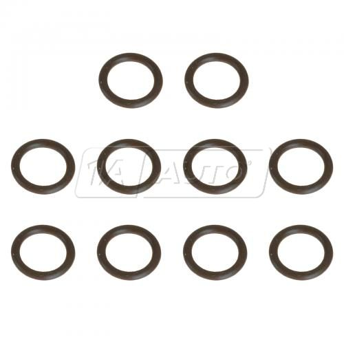 82-11 GM Multifit; 06-09 H3 Front or Rear Fuel Injection Feed Pipe O-Ring Seal Set of 10 (AC Delco)