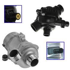 Electric Water Pump & Thermostat w/Housing Kit for BMW (Hella)
