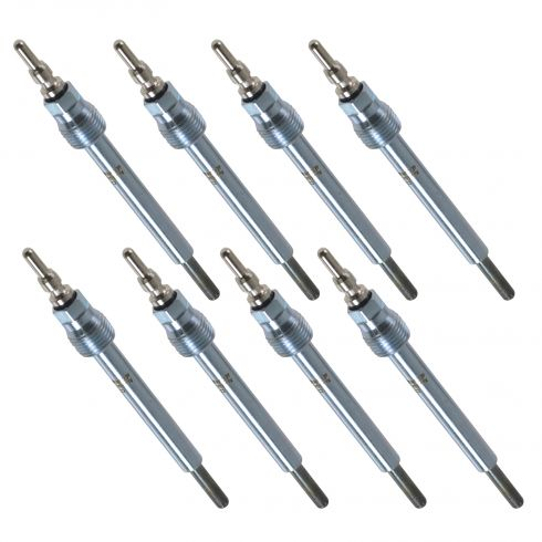04-10 E350, E450; 04-05 Excursion; 04-07 F250SD-F550SD w/6.0 Diesel Glow Plug (Set of 8)(Motorcraft)