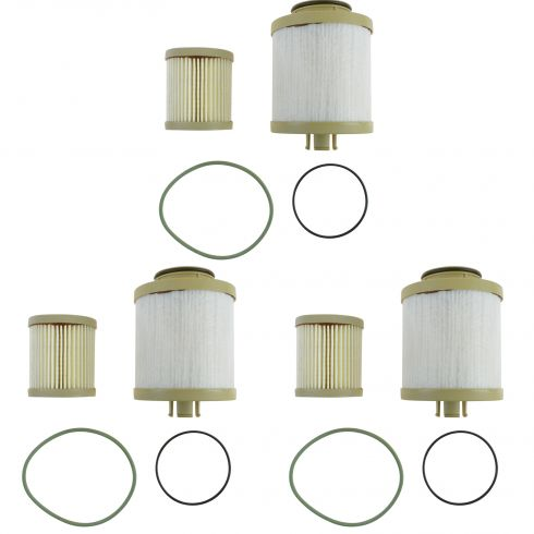 03-07 Ford F250 F350 Super Duty 6.0L Diesel Fuel Filter Set of 3 (Motorcraft)