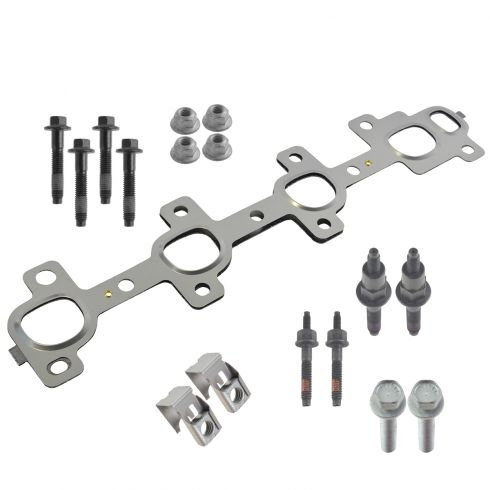 99-07 Chrysler, Dodge, Jeep, Mitsubishi Multifit w/4.7L Exh Man Gskt w/16 Piece Hardware Kit LH (MP)