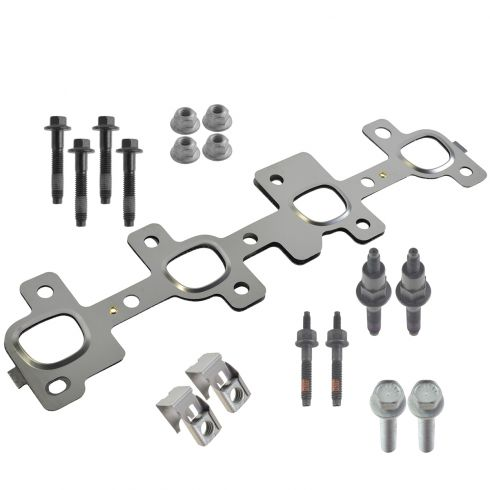 99-07 Chrysler, Dodge, Jeep, Mitsubishi Multifit w/4.7L Exh Man Gskt w/16 Piece Hardware Kit RH (MP)