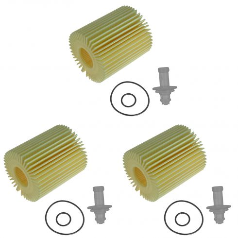 06-15 Lexus; 05-15 Toyota Multifit Engine Oil Filter Cartridge Kit Set of 3 (Toyota)
