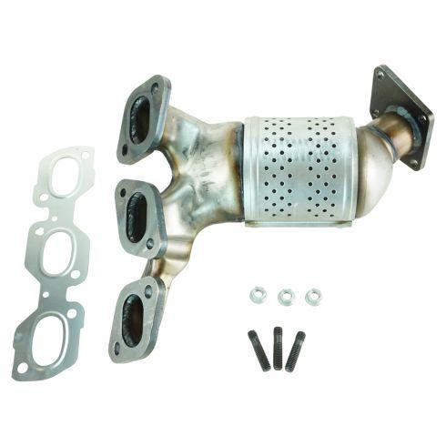 02-06 Mazda MPV Van Exhaust Manifold w/Cat & Gasket Set (Firewall Side) RH
