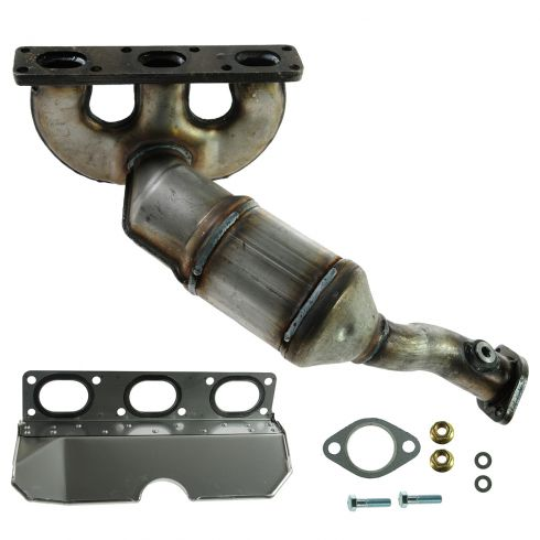 01-03 BMW 525i, 530i; 01-06 3.0L REAR Exh Manifold w/Catalytic Conv & Gasket Install Kit (exc CA)