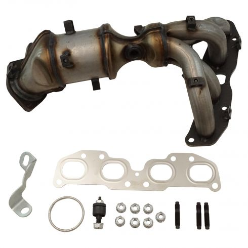Exhaust Manifold (with Catalytic Converter, Gasket Kit, & Hanger)