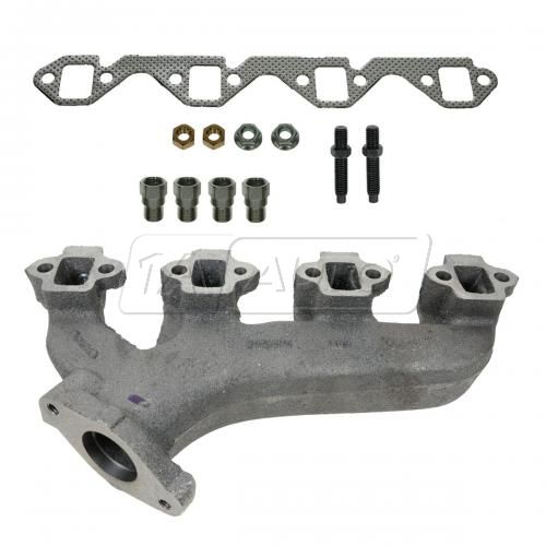 83-91 Ford 351W Exh Manifold w/ Heat Riser LH & Gasket Kit (Dorman)