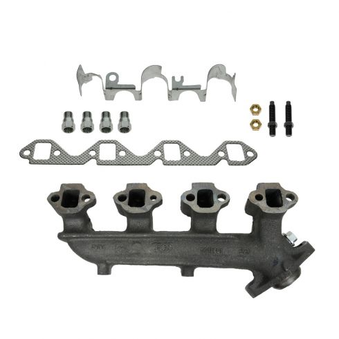 83-91 Ford 351W Exh Manifold RH & Gasket Kit (Dorman)