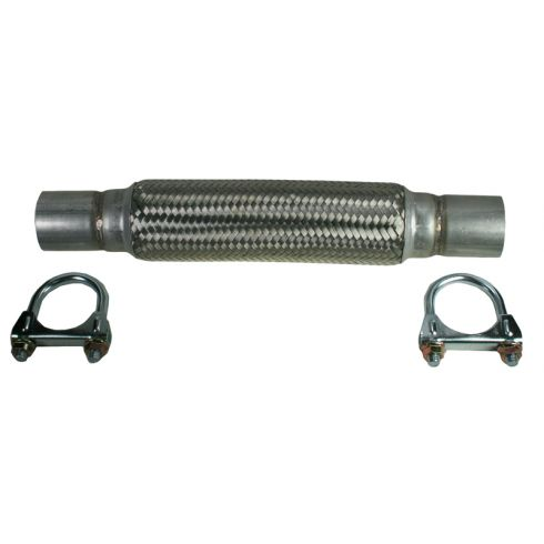"1.75"" x 14.75"" Heavy Duty Flex Pipe w/ (2) Muffler Clamps"