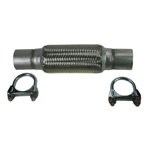 "2"" x 12"" Heavy Duty Flex Pipe w/ (2) Muffler Clamps"